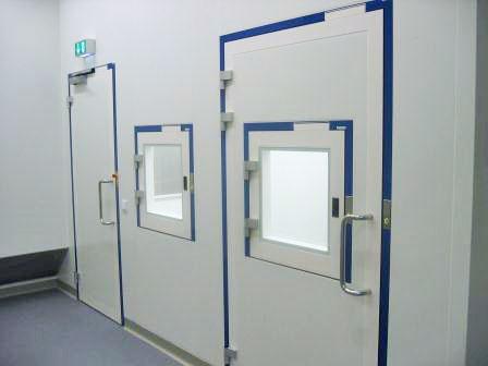 Système sas porte salle blanche