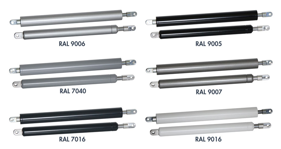 Amortisseurs-limiteurs d'ouverture maintenant avec un cylindre laqué