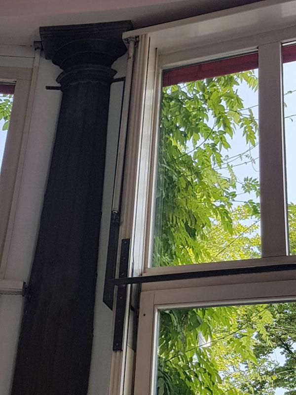 Schiebefenster-Antrieb im Restaurant Terrasse