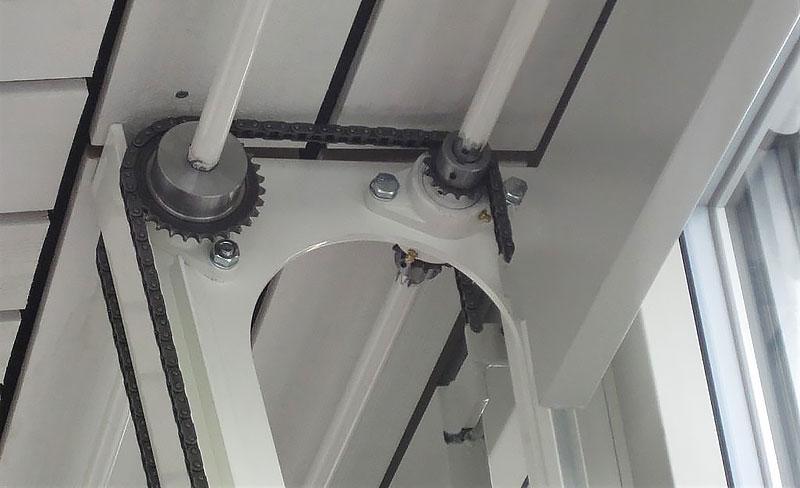 Detail-Ansicht der Kettenräder